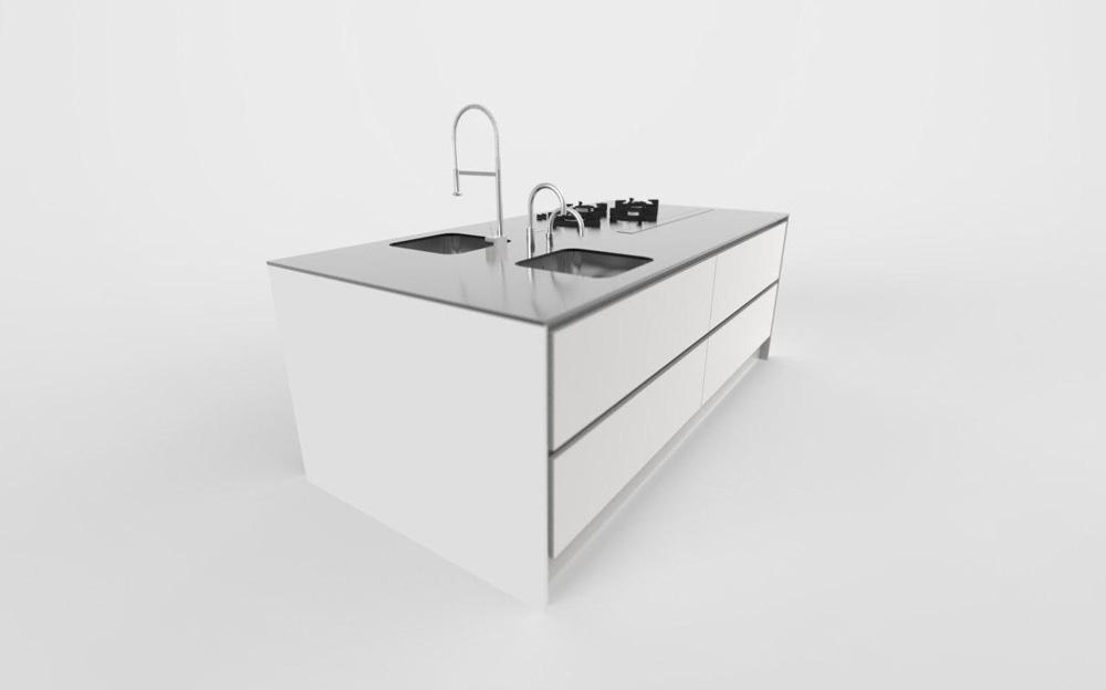 arbeitsplatte edelstahl. Black Bedroom Furniture Sets. Home Design Ideas